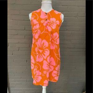 Vintage Floral print Hawaiian dress L